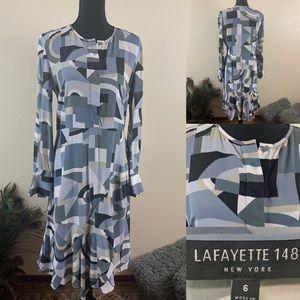 Lafayette 148 New York Dress Awesome Print Dress
